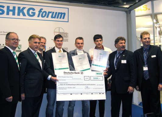 Wilo-Förderpreis Ost auf SHKG Leipzig verliehen