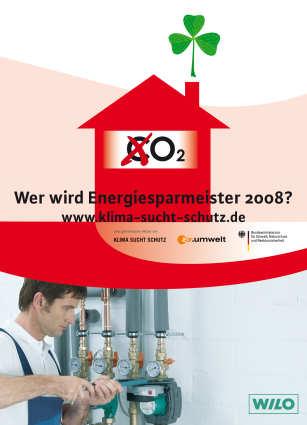 """Endspurt für Bewerbungen zum Wettbewerb """"Energiesparmeister 2008"""""""
