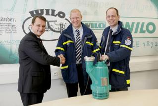 Pumpenhersteller Wilo unterstützt den Katastrophenschutz