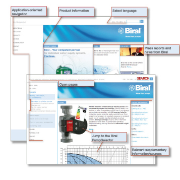 New Internet presentation by Biral