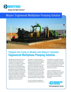 New Brochure on Moyno Engineered Multiphase Pumping Solutions