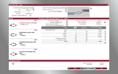 Spaix PipeCalc Enables Online Duty Point Calculation for Pumps