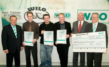Beste SHK-Nachwuchskräfte mit Wilo-Förderpreis NRW 2009 ausgezeichnet