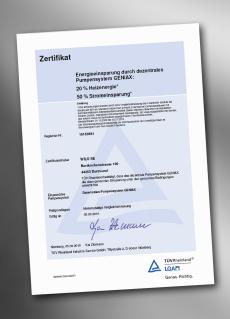 TÜV-Zertifizierung für Dezentrales Pumpensystem von Wilo