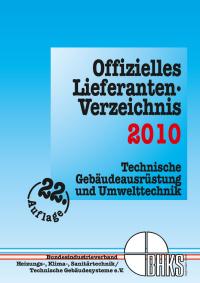 Offizielles Lieferanten-Verzeichnis des BHKS 2010 erschienen