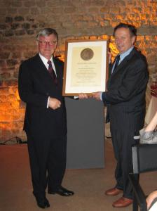 Dr. Herbert Rudolf mit Rietschel-Diplom ausgezeichnet