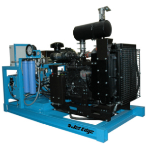 Diesel-Powered Water Jet Intensifier Pump Ideal for Mobile Cold Cutting Applications
