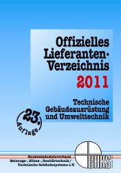 Offizielles Lieferanten-Verzeichnis des BHKS 2011 erschienen