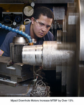 Mpact Downhole Motors Increase MTBF by Over 13%