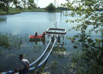 Gewässerregulierung mit mobiler Pumpstation schnell wiederhergestellt