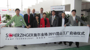Scherzinger eröffnet Fertigungsstätte in China