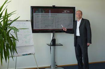 Achema 2012: VSX Geschäftsführer hält Vortrag über Energieeinsparungen durch optimierte Pumpenauswahl