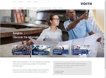Dachmarkenstrategie konsequent fortgeführt: Voith mit neuem Internetauftritt