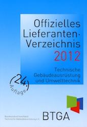 Offizielles Lieferanten-Verzeichnis des BTGA 2012