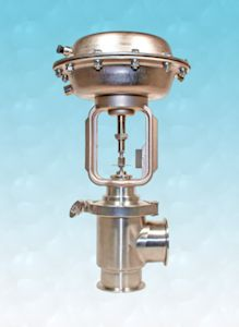 Compact, Angle Control Valves For Hygienic Applications