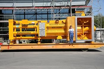 Putzmeister präsentiert größte Kolbenpumpe als Hochdruck-Version