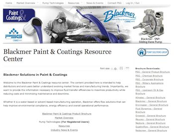 Blackmer Launches Paint & Coatings Website