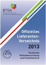 Offizielles Lieferanten-Verzeichnis 2013 des BTGA erschienen