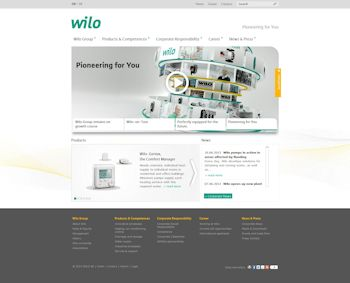 Wilo Website Relaunched