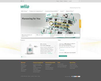 Relaunch der Wilo-Website