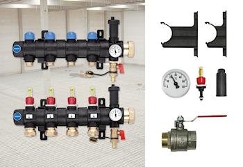 Industrieverteiler in Modulbauweise für die Systeme der Bauteilaktivierung und Industriebodenheizung