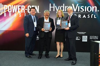 Voith Received Award at HydroVision Brazil 2013