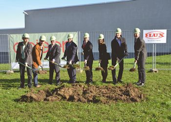 Flux-Geräte: Ground-breaking Ceremony for New Warehouse