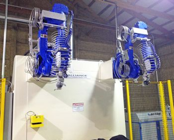 Powering Robotic Waterjet Trimming Cells with Jet Edge Pumps