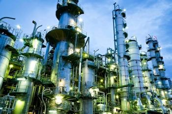 Pumpen in Erdöl-Raffinerie laseroptisch ausgerichtet