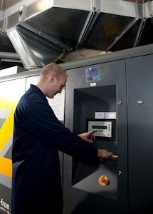 Packaging Company's Compressor Waste Heat Helps to Warm Local College