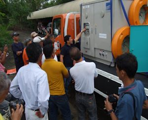 Ebara Delivers Drainage Pump Trucks to the Philippines