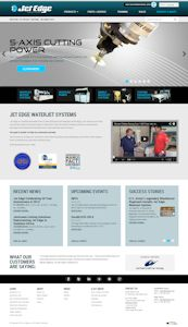 Waterjet Manufacturer Jet Edge Launches New Website