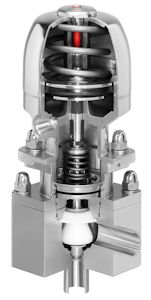 Aseptic Stainless Steel Control Valve for Small Volumes