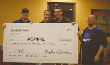 Aspire Receives $20,000 Donation from the Inpro/Seal Family