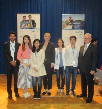 Wilo-Foundation ehrt das zweite weltweite Gesamtsiegerteam der DWA University Challenge