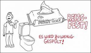 """Anschaulicher Erklärfilm zum Thema """"Verstopfungen von Pumpstationen durch Feuchttücher"""""""