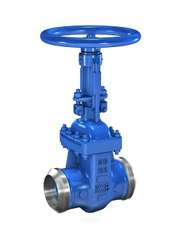 New Cast Steel Gate Valve with Butt Weld Ends