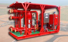 Fire Water Pump Package by Dynapumps for the Amrun Project