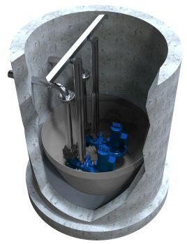 Self-Cleaning Tank Inserts for Waste Water Tanks