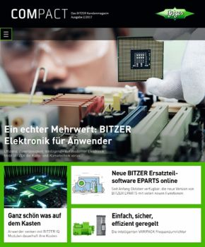 New Bitzer Customer Magazine with a Focus on Electronics