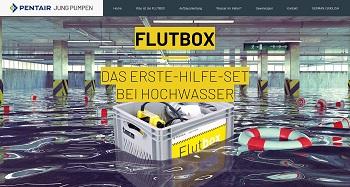 Neue Flutbox-Webseite von Pentair Jung Pumpen