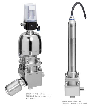 Extended Actuator and Nominal Size Range of GEMÜ 567 BioStar Control Valve
