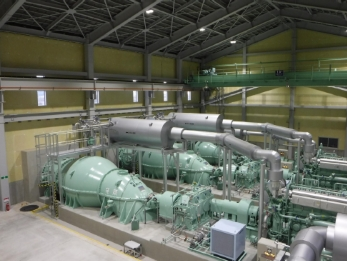 Ebara Installs Four Drainage Pump Units at Tsuruga Drainage Pump Station, Ishinomaki