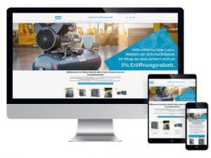 Atlas Copco verkauft Kompressoren und Drucklufttechnik jetzt auch online