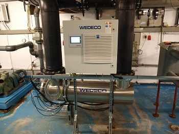 UV low-pressure system from Xylem ensures perfect water quality with reduced chlorine use