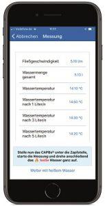 Messprotokoll für die technische Bewertung von Trinkwasseranlagen mit Afriso App