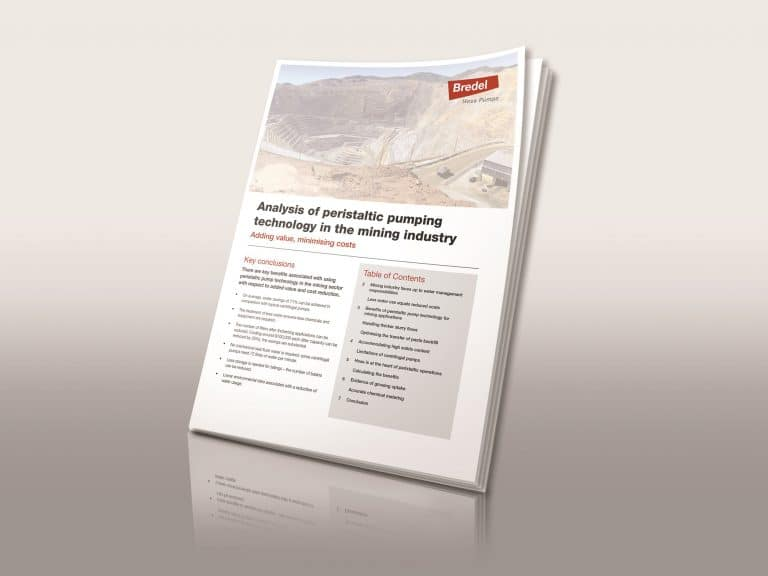 New Edition of White Paper Concludes Peristaltic Pump Technology can Deliver 70 percent+ Water Savings for Mining Industry