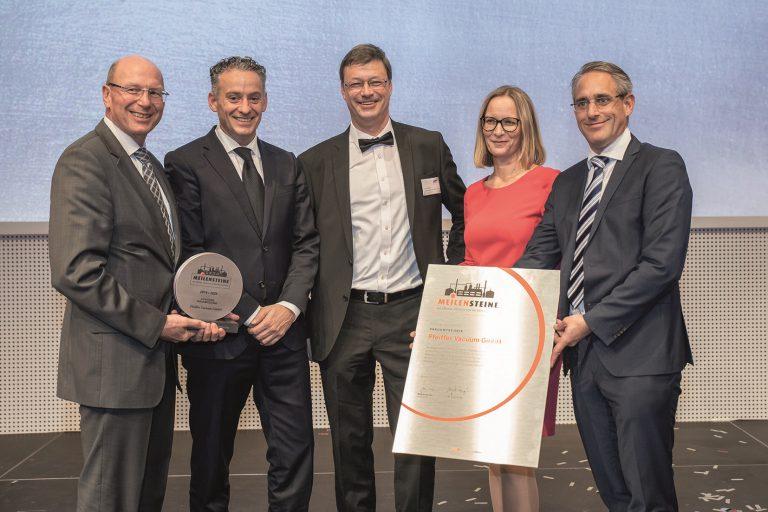 Pfeiffer Vacuum Receives Milestone Award for Vacuum Technology