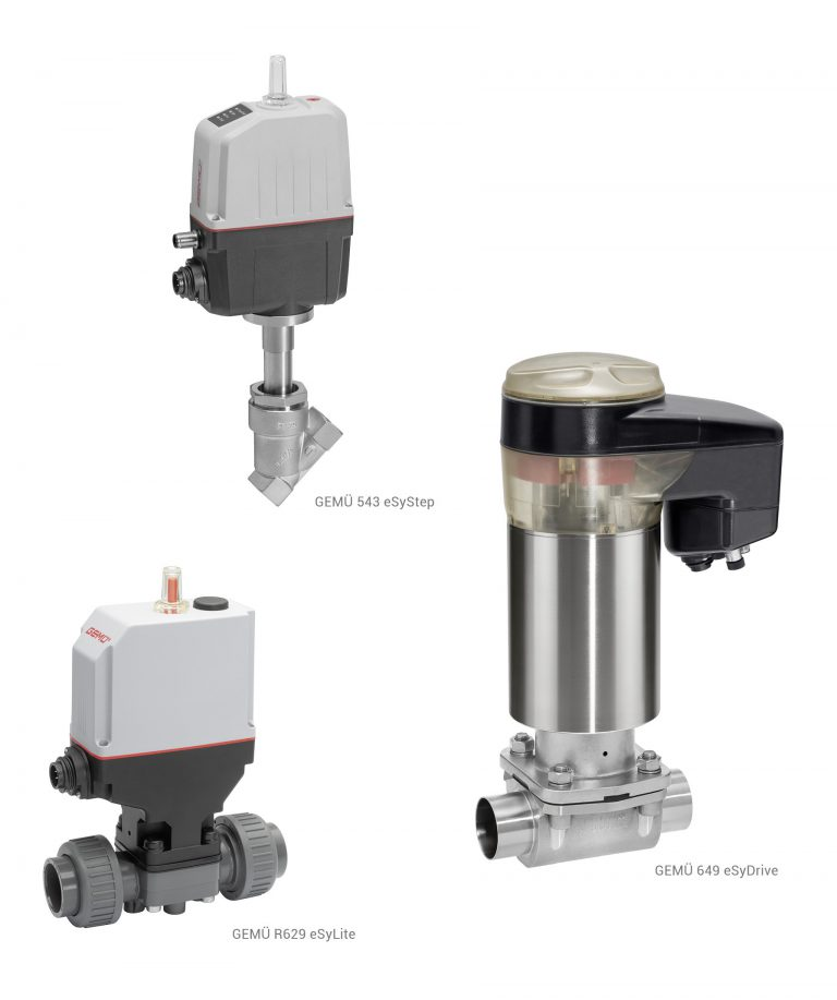 Valves with new Motorized eSy Actuators from GEMÜ