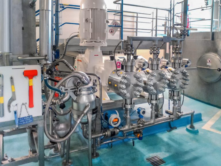Aseptic process pumps for spray drying in the food and pharmaceutical industries
